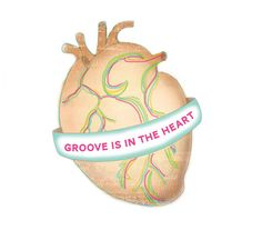 Groove is in the heart neon / art print 8 x 10 / by JumpOffThePage, $15.00