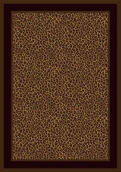 "Amazon.com - Milliken Innovation Zimbala Leopard Print Rug Oval 3'10"" x 5'4"" - Area Rugs"