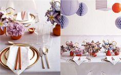 lavender with hits of red color pallette story for martha stewart weddings. prop styling by Randi Brookman Harris