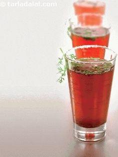Spicy Kokum Drink ( Party Drinks ) recipe   by Tarla Dalal   Tarladalal.com…