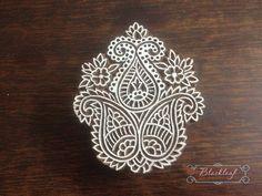 Wood Block Printing Hand Carved Indian Wood Block Printing Stamp Tree of Life Paisley Motif