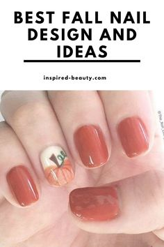Beautiful nail deisgn for autum, fall nail design ideas. Over40 plus ideas and color combination for your next manicure Cute Nail Art Designs, Halloween Nail Designs, Nail Designs Spring, Simple Nail Designs, Beautiful Nail Designs, Beautiful Nail Art, Diy Nails, Cute Nails, Manicure