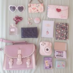 Kawaii stuff to Bring somewhere My Bags, Purses And Bags, Kawaii Diy, Kawaii Stuff, Kawaii Things, Purse Essentials, What In My Bag, Just Girly Things, Girly Stuff