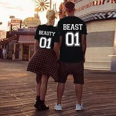 Beauty and The Beast Couples T-Shirts Gym Couple, Couple Tees, Couple Tshirts, Couple Goals, Disney Nerd, Disney Fun, Disney Style, Disney Trips, Matching Couples