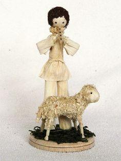 Clay Dolls, Doll Toys, Corn Husk Crafts, Corn Husk Dolls, Crepe Paper Flowers, T Art, Bear Doll, Christmas Nativity, Paper Clay