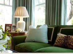 Little Green Notebook: Velvet Upholstery - One of these days I will have a velvet sofa