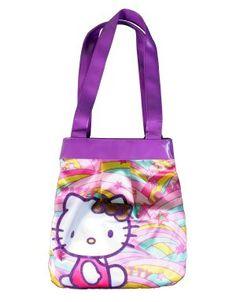 2db43b93c2cf Hello Kitty Pink Purple multi colored Tote Shoulder Bag Abracadabra Hello  Kitty Merchandise