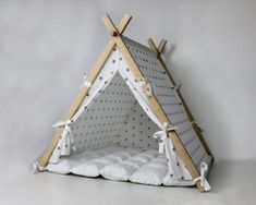 Items similar to Modern Dog House on Etsy Pet Beds, Dog Bed, Cat Teepee, Teepee Tent, Cat Hammock, Bed Tent, Cat House Diy, Foto Baby, Home And Deco