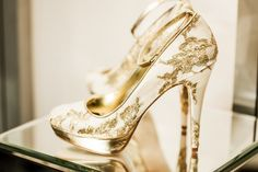 White and gold heels - The White Gallery, April 2014 ~ Wedding Dresses, Shoes and Accessories to Watch Out For in 2014/15 | Love My Dress® UK Wedding Blog.