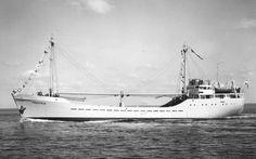 MAASYM-N Bouwjaar 1952, grt 496 Eigenaar Van Nievelt, Goudriaan & Co.'s  Stoomvaart Maatschappij N.V., Rotterdam http://koopvaardij.blogspot.nl/2016/07/23-juli-1963.html