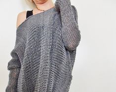 Oversized Chunky knit woman sweater. by RoseUniqueStyle on Etsy