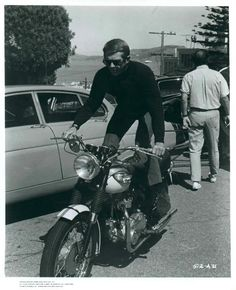 Steve McQueen on the set of Bullitt, 1968