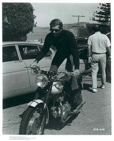 Steve McQueen on the set of Bullitt, 1968