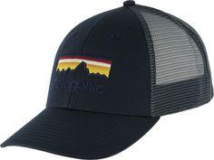 Patagonia Line Logo Lopro Trucker Hat - smolder blue - Free Shipping