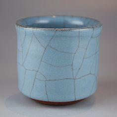 Sake cup by National Living Treasure of Japan, Hiroshi NAKAJIMA (1941~)  #ceramics #pottery