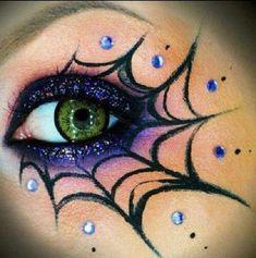 Spooky Halloween, Halloween Eye Makeup, Diy Halloween Costumes, Halloween Decorations, Halloween Face, Witch Costumes, Vintage Halloween, Kids Witch Makeup, Costume Ideas