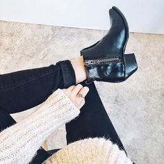 Moto boots & chunky sweaters. Shop the Sacha Moto Shortie | The Frye Company