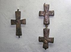 Medieval Serbian Engolpions (Enkolpions), found in Čačak, western Serbia, 12th-13th century, kept in Museum in Čačak / Enkolpioni, slučajni nalazi iz Čačka, 12-13. vek, čuvaju se u Narodnom muzeju u Čačku
