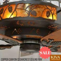 Cedarcrest Chandelier Ceiling Fan - Rustic Lighting and Fans Rustic Track Lighting, Rustic Kitchen Lighting, Rustic Pendant Lighting, Cabin Lighting, Rustic Lamps, Rustic Chandelier, Ceiling Fan Chandelier, Ceiling Lights, Log Home Living