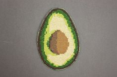 Avocado Patch / Embroidered / Badge / Guacamole / by NewWoodsman