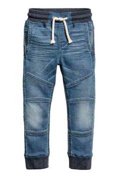 7a3608f23 Supersoft denim joggers Kids Fashion Boy, H&m Fashion, Denim Fashion,  Fashion Outfits,