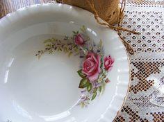 Vintage Serving Bowl / Floral Serving Dish / Regal Rose by gazaboo