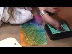 Here is Tim Holtz at the CHA2015 Anaheim show demonstrating some cool techniques using Ranger's texture pastes. Video Credit: Craft Test Dummies