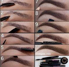 How to get perfect eyebrows using concealer and eyeshadow. Mystery is a good choice by Mac for a darker brow.