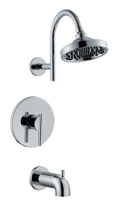 Design House 525709 Geneva Tub and Shower Faucet Polished Chrome