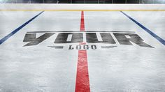 Add your logo to a Hockey Rink photoshop mockup