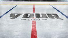 Add your logo to a Hockey Rink photoshop mockup