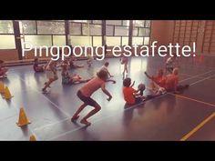 Ping Pong Race in de gymles!Een leuke estafette voor in de gymles, maar ook voor buiten waarbij goed samengewerkt moet worden! Pe Activities, Pe Games, Physical Education Games, Field Day, Exercise For Kids, Team Building, Volleyball, Challenges, Workout