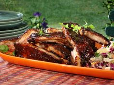 Spice Rubbed Ribs with Chipotle-Honey Glaze Recipe : Bobby Flay : Food Network - FoodNetwork.com