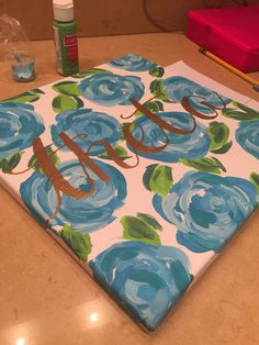 Kappa Alpha Theta Lilly Pulitzer painting #sorority #sororitycrafts #thetacraft