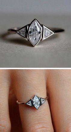 Engagement Rings & Wedding Rings : Marquise Diamond Ring we this! moncheribridals.com #engagementrings