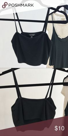 TOPSHOP Crop Top Super cropped crop top, pair with. Cute high waisted skirt for a flirty look! Topshop Tops Crop Tops