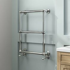iBathUK | 3 Bar Traditional Victorian Chrome Heated Towel Rail Bathroom Radiator - All Sizes: iBathUK: Amazon.co.uk: Kitchen & Home