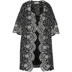 Oscar de la Renta Printed bouclé coat (85.620 RUB) ❤ liked on Polyvore featuring outerwear, coats, midnight blue, oscar de la renta, oscar de la renta coat, lightweight coat and boucle coat