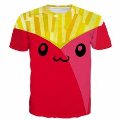 Summer Fashion Pink Cute French Fries Daily Wear Funny Design T-shirt  #Summer #Fashion #Pink #Cute #French #Fries #Daily #Wear #Funny #Design #T-shirt #Woofapparel