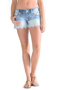 Floral Zig Zag Shorts