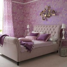 Home Design and Interior Design Gallery of Beautiful Lavender Bedroom Design Homeinfurniture Com Purple Bedroom Design, Lilac Bedroom, Purple Bedrooms, Dream Bedroom, Bedroom Decor, Bedroom Ideas, Feminine Bedroom, Bedroom Designs, Master Bedroom