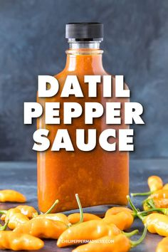 Datil Pepper Sauce - A flavorful hot sauce recipe made with fiery datil peppers, tomato paste, vinegar and honey, with a few extra spices tossed in for flavor. This might be your new favorite hot sauce! Hot Sauce Recipes, Spicy Recipes, Chili Recipes, Pepper Recipes, Tuna Recipes, Datil Pepper Sauce Recipe, Hot Pepper Sauce, Spicy Chili, Caribbean Recipes