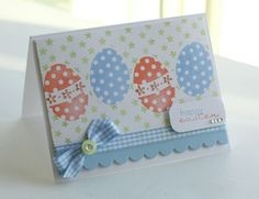 Easter Card Idea...masking.  By Lisa Johnson jennyjean