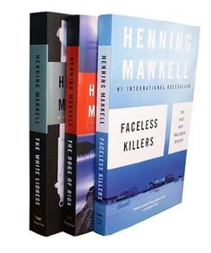 Henning Mankell Wallander Bundle: Faceless Killers, The Dogs of Riga, The White- love this author