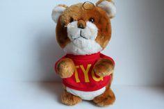 SHIRT TALES TYG, Vintage 1981 Hasbro Preschool Toy, Hallmark Stuffed Plush Tiger with Red Shirt,vintage stuffed tiger,vintage stuffed animal