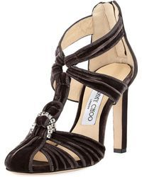 fdb5bf09f28 I love these Jimmy Choo embellished velvet sandals!