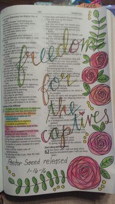 Isaiah 61:1-2 Isaiah 61, Bible Illustrations, Canvas Crafts, Bible Art, Journal Inspiration, Verses, Prayers, Bullet Journal, Art Journaling