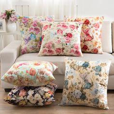 2016 flores almofadas Home Decor almofadas New 2016 algodão assinatura Cecorative almofadas Pillow Decor em Almofada de Home & Garden no AliExpress.com   Alibaba Group