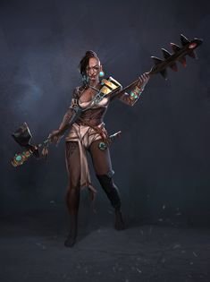 ArtStation - Valeria Dryzhak's submission on Ancient Civilizations: Lost & Found - Character Design