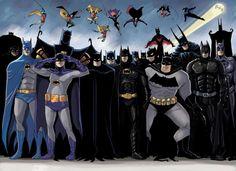 Batmen. My most favorite Nolan's Trilogy Batman and BTAS Batman!!
